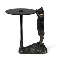 Masa cafea neagra din metal si sticla temperata 38x47 cm No Girlfriend No Problem Bold Monkey Tempered Glass Table Top, Girlfriends, Cat Lovers, Monkey, Modern Houses, Design, Philosophy, Room Ideas, Living Room
