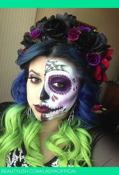 Dia De Los Muertos/Day Of The Dead | Angie M.'s (ladyaoffical) Photo | Beautylish
