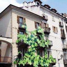 """Alessandro Audifreddi, Giorgio Gasco, realizzato da Abet laminati, """"balcone rampante"""", 2012. Courtesy: associazione art.ur"""