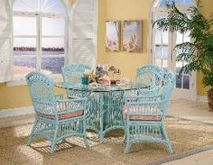 How many times have I seen this set at a thrift or yard sale! Duh! Just have to paint it this cute color!! How easy!