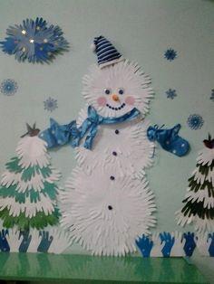 Winter season art and craft ideas for preschool classroom Christmas Activities, Christmas Crafts For Kids, Kids Christmas, Hand Crafts For Kids, Art For Kids, Winter Art, Winter Theme, Snowman Crafts, Preschool Crafts