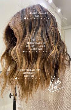 Toner For Blonde Hair, Warm Blonde Hair, Hair Toner, Brown Balayage, Blonde Balayage, Redken Hair Color, Balayage Hair Tutorial, Redken Hair Products, Honey Brown Hair