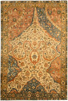 Antique Indian Rug with ornaments. Interior decor with antique ornamental rug #rug #interior #decor