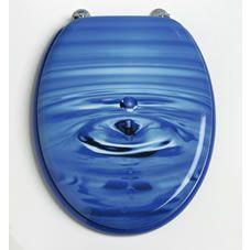Clear Blue Bubbles 2 Piece Toilet Seat Beach Toilet