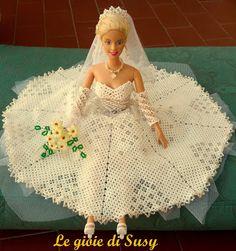 Abito da sposa Barbie ampio