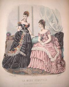1870s Fashion | 1870's fashion plate via Elensari