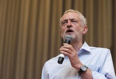 Labour leadership candidate Jeremy Corbyn attends a rally at the Mercure Cardiff Holland House Hotel on August 11, 2015 in Cardiff. Photograph: Getty Images