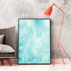 Blue Abstract Art, Blue Painting, Printable Wall Art, Instant Download, Relaxing Abstract Art, Calming Wall Art, Large Art Prints   #Art #AbstractArt #Prints #Printable #WallArt #Modern #Blue #Minimalist