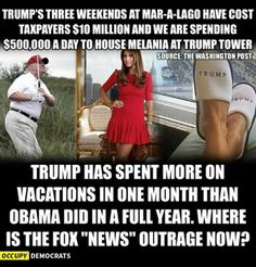 So-called president on vacation every weekend 3 million each time