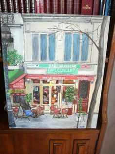 Bar de París,  óleo sobre lienzo