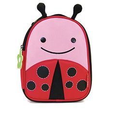 Skip Hop Baby Zoo Little Kid and Toddler Insulated and Water-Resistant Lunch Bag, Multi Livie Ladybug - With friendly faces and matching zipper pulls, Zoo lunchies make lunchtime fun time. Sized just right for little kids, or a mom and baby on the go, these soft bags have a roomy main compartment that holds sandwiches, snacks, drinks and more. An insulated, wipe clean interior keeps food and drinks...