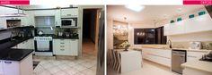 Decor Salteado - Blog de Decoração e Arquitetura : Cozinha redecorada linda - confira detalhes do antes e depois!