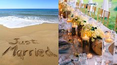 Just married...wooden table decoration by DOMINICAN EXPERT
