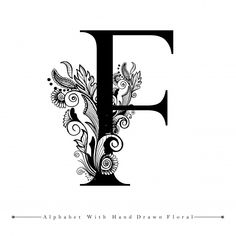 Alphabet Letter F Hand Lettering Quotes, Lettering Design, Design Letters, Logo D'art, Art Logo, Design Floral, Logo Floral, Galaxy Wallpaper, Iphone Wallpaper