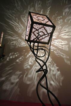lampe fer forgé design feérique moderne