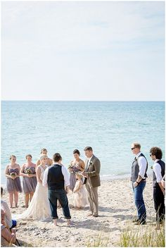 This Had An Incredibly Beautiful Point Betsie Wedding In Northern Michigan On The Ss Of Lake Surrounded By Sand Dunes