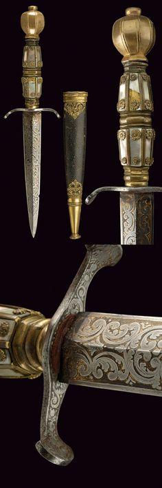 A fine romantic dagger,    provenance: Europe dating: 19th Century.