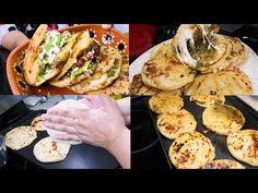 GORDITAS DE (MAIZ) CHICHARRON, RAJAS Y QUESO | RECETA DELICIOSA - YouTube Mexican Dishes, Mexican Food Recipes, Ethnic Recipes, Chicharrones, Chicken Broccoli, Egg Salad, Tex Mex, Queso, Food And Drink