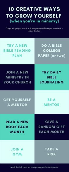 It's important to keep learning and growing, but sometimes we can get stuck in the busyness of life! Here's 10 ways you can stretch yourself this year and continue to grow when you're in ministry.