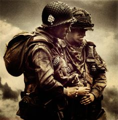 Band of Brothers. I believe this to be Shifty Powers and Floyd Talbert.