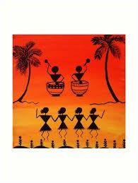 Worli Painting, Block Painting, Fabric Painting, Zentangle Drawings, Art Drawings, Oil Pastel Art, Indian Folk Art, Madhubani Painting, Art N Craft