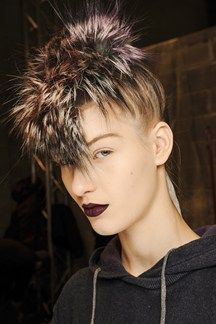 Backstage Hair: Prada  Fun for punk fancy dress