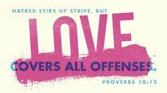 Daily Bible Verse Proverbs 10:12