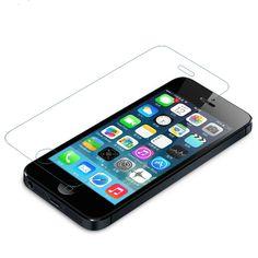 Envío libre para el iphone 5s vidrio de 0.26mm en el protección de pantalla de cristal templado de pantalla de cristal de cine para iphone 5/5s protector