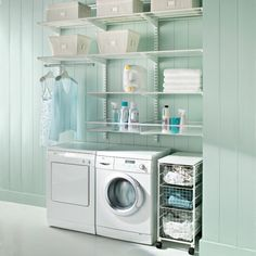 Lovely laundry room colors.