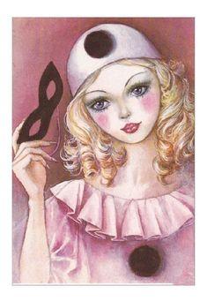 Illustrations, Illustration Art, Porcelain Dolls Value, Fine Porcelain, Porcelain Ceramics, Night Circus, Pantomime, Carnival Masks, Masks Art