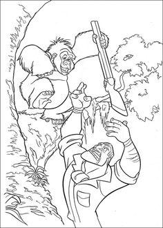 Disegni da colorare Tarzan 3
