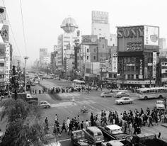 東京1960 数寄屋橋交差点