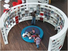 round shelving. if i ever build a library!
