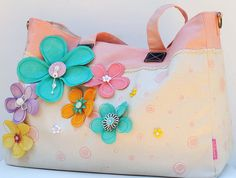 "Bloomin Tote Bag- ""NEW PRIMA"" - Scrapbook.com- embellish your tote with Prima details and flowers!"