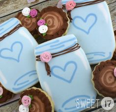 Rustic Wedding Sugar Cookies Sweet17Cookies.Etsy.com