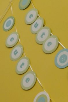 Cute as a Button Baby Shower Theme by tammy.nietlingprovencher