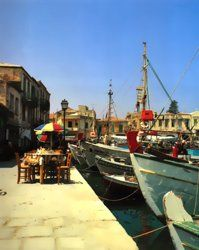 Rethymnon Town, Crete, Greece A VENETIAN HARBOUR, FILLED WITH LOVELY RESTAURANTS OVERLOOKING THE SEA.BEAUTIFUL SANDY BEACHES NEARBY