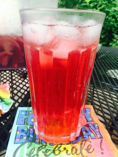 Sparkling coconut water with a splash of real cranberry juice and 1/2 lime juice