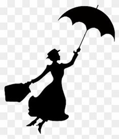 Baby Room Display Boards, Mary Poppins Silhouette, Shadow Silhouette, Painted Chairs, Creative Industries, Clip Art, Stickers, Reading, Tattoos