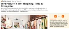"""Ana Chronos featured in Conde Nast Traveler recently as part of """"Brooklyn's best shopping district."""" We think Greenpoint i..."""