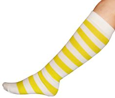 Perfect for your summer outfit. Yellow Stripes, Neon Yellow, Knee Socks, High Socks, Costume Ideas, Costumes, Good Day Sunshine, Striped Socks, Mellow Yellow