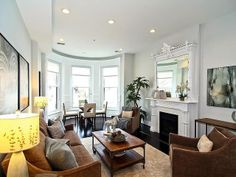 Charming DC Rowhouse. Love The Decor And Fire Place. Brownstone Interiors,  Townhouse, Living