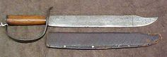 Confederate side knife, also called by some a cutlass or short sword...commonly called a D-guard bowie