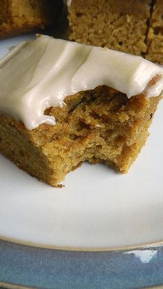 Pumpkin Cake with Cream Cheese Frosting The directions crack me up!!! She's my kind of cook! ko