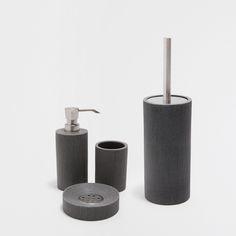 grey resin bathroom set