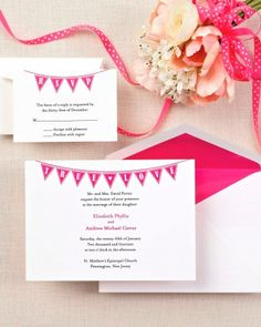 Decorating with garland at your wedding? Mimic it on your invites with this fun motif