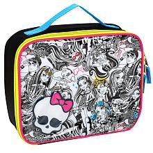 Matching Lunch Kit. Her birthday is coming.....Should we? ;)    Monster High Monster Mash Insulated Lunch Tote - Black and White