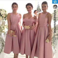 Lovely bridesmaids wearing custom @markbumgarner  @iamhearte #MB #MarkBumgarner #chizheart21515 #mbbridal #mbweddings #mbmanila loving the #bridesmaids' chic and sophisticated look. These girls are so effortlessly elegant! #chizheart21515 RG: @nelsoncanlas #MBweddingsandbeyond
