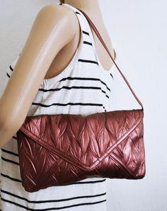 Free Ship Metallic Plum Purse Jessica McClintock Shoulder Bag on Etsy, $19.99