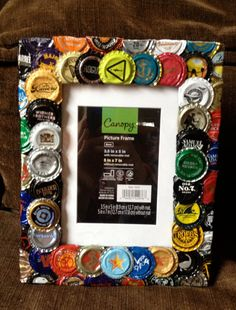 Brewing craft beer and bottle cap earrings on pinterest for Beer bottle picture frame